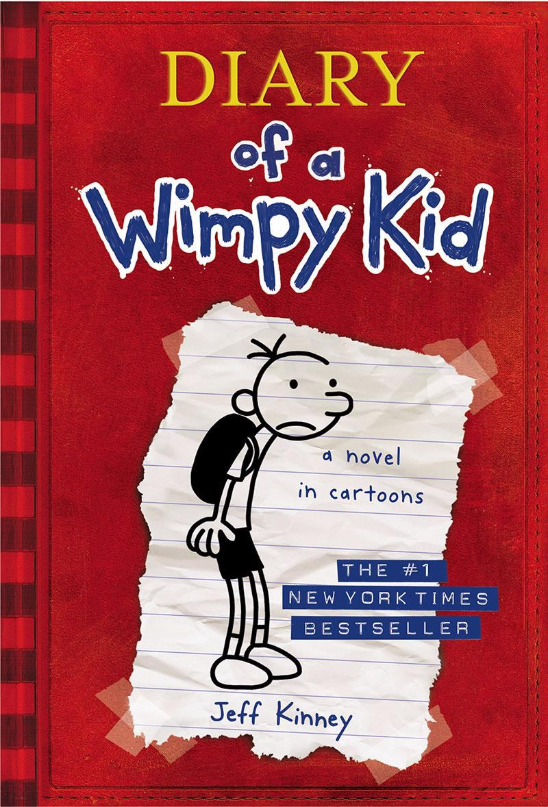 Book cover of Diary of a Wimpy Kid / boy slumped over